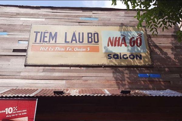 Lẩu bò Nhà gỗ - Sài Gòn